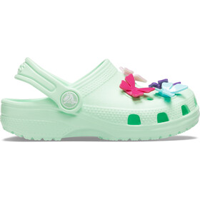 Crocs Classic Bttrfly Charm Prescool Chodaki Dziewczynki, neo mint